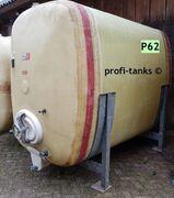 P62 gebrauchter 5.000 L Polyestertank GFK-Tank Rotband Lagerbehälter Wassertank Futtermitteltank Regenwasser Lagertank Sickersafttank Melassetank Molketank Rapsöltank