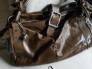 Damen lederhandtasche dunkelgrün - Fürstenfeldbruck