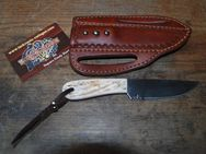 "Buckaroo knife mit ""quick draw"" Leather-Sheath K139 - Ratingen"