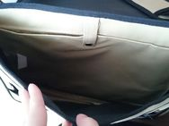 schicke, große Umhängetasche mit Laptopfach, beige - Kahl (Main)