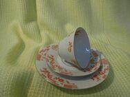 Antikes Hutschenreuther Arzberg 3 tlg. Kaffeegedeck / Art Deco Porzellan Sammler