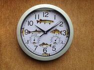 "Angler-Uhr""Wanduhr""Wetterstation""Aal""Dorsch""Forelle""Lachs""Hecht - Hamburg"