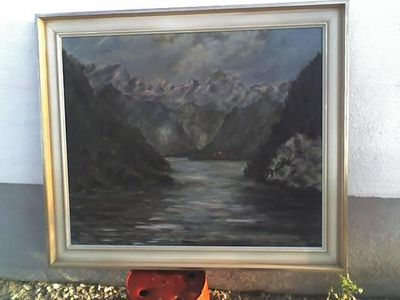 "Bild ""Landschafts-Panorama"" m. Rahmen 70 x 60 cm - Simbach (Inn) Zentrum"