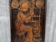 Holzbild handgeschnitzt, massiv, alt - Albstadt