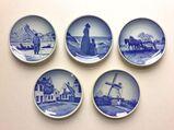 5 Dänische Mini-Sammelteller Royal Copenhagen Porzellan