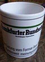 Werbetasse der Frankfurter Rundschau