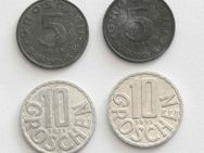 4 Münzen Österreich 5 + 10 Groschen (1968, 1971, 1995)