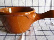 Keramik Pfännchen mit Griff aus den 70er Jahren - Niederfischbach