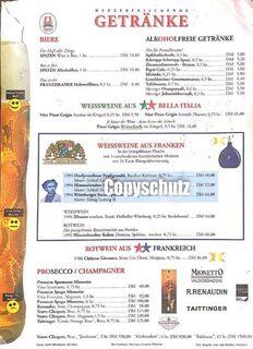 Speisekarte Oktoberfest München 1995 Hippodrom - Seefeld (Bayern)