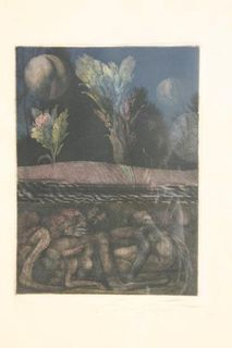 Ernst Fuchs Druck - Unikat - Erding