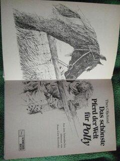 """Sehr schönes Kinderbuch """"Das schönste Pferd der Welt für Polly"""" von Thea Oljelund, empfohlen für Kinder ab 10 Jahren, Franz Schneider Verlag, stammt aus 1986, 125 Seiten, ISBN: 3505092096, zum Schutz für weiteren Gebrauch schon eingebunden - Unterleinleiter"""