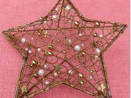 Weihnachts-Stern aus Metallgewebe - ca. 24 x 24 x 11 cm - Groß Gerau