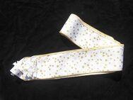 2 Tischbänder 150 cm weiß gold Sterne Weihnachten Advent  Deko Weihnachtsdeko  zus. 4,- - Flensburg