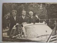 Foto J.F.Kennedy, Willy Brand, Konrad Adenauer 1963 - Frankfurt (Main)