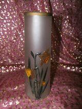 Antike Glas Vase SIV Brevete / Jugendstil / Narzissenmotiv / Sammler, Rarität