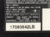 Y57 Notebook Netzteil 100-240V / OUT 18.5 VDC 2.7A  /  Y57