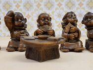 Mönche beim Kartenspiel 6 tlg. Wachsfiguren Skat DEKO - Kaufbeuren