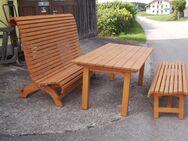 Gartenschaukel 3 Sitzer fertig lasiert Fichte massiv - Tyrlaching