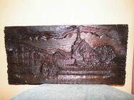 Massiv geschnitztes Reliefbild aus Holz Greifenberg / Pommern / Gryfice Pomorska - Zeuthen