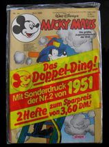 Micky Maus Nr. 14 + 1. Reprint Nr. 2 - 1951 (Doppelausgabe) von 1986