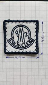 Moncler Patch Aufnäher Abzeichen Logo Mütze Jacke Button eckig
