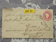 Baden 3 Kreuzer Ganzsachen  Briefumschlag 1867,Lot 88