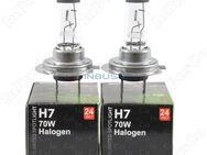 Halogenlampen 2 Stück H7, 24V, 70 W LKW Sockel PX26d Transparent - Berlin