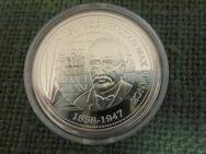 Max Planck-150. Geburtstag-Silbermedaille-Spiegelglanz--mit Zertifikat-RAR- - Mahlberg