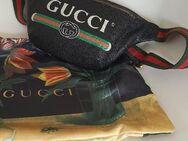 Gucci Gürteltasche Bauchtasche Schwarz Print Small Belt Bag Unisex Damen Herren - Nienburg (Weser)