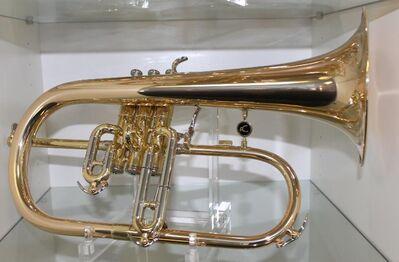 Antoine Courtois Flügelhorn, Modell 154 R, Goldmessing mit Trigger inkl. Koffer - Hagenburg