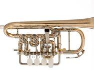 J. Scherzer Piccolo - Trompete, Mod. 8111L mit Trigger und Handstütze, Neuware