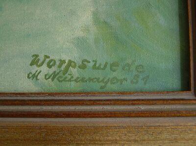 Gemälde von Marwine Neumayer von 1981 - Zell (Fichtelgebirge)