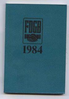 FDGB 1984 Kalender - Taschenkalenderbuch - Nürnberg