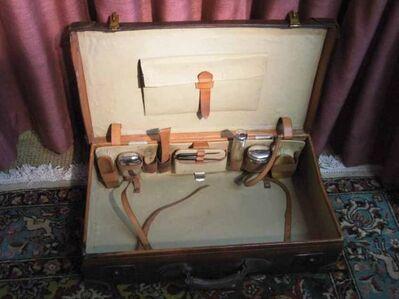 Antiker Lederkoffer, Necessaire Koffer ca.1920 / 66 x 38 x 17 cm / Sammler - Zeuthen
