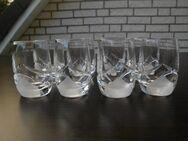 8 Bleikristall Stamper Schnapsstamper Gläser Nachtmann? satiniert Retro Vintage zus. 20,- - Flensburg