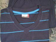 Schlafanzug Shorty Herren (Gr. 52/54) Dunkelblau, blaue Querstreifen - Weichs