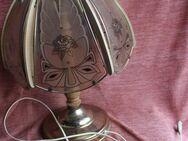 Tischlampe mit Deko-Glasscheiben Rosenblüte - Bad Belzig