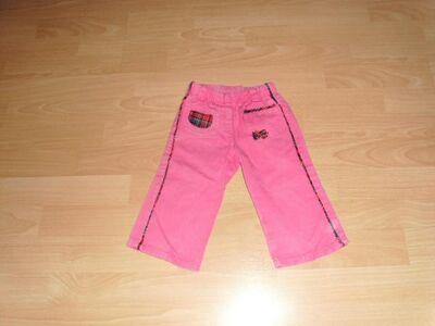 Hose, rosa mit karierter Tasche Gr. 74/80 - Bad Harzburg