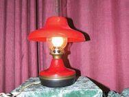 Alte rote Petroleumlampe Elektrisch 70er Jahre / Kult Lampe UDSSR / Vintage - Zeuthen