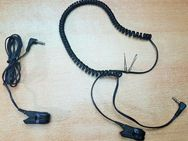 2 x Stück 3,5 mm Klinke Stecker zu Klemmen 120 cm - 155 cm Kabel