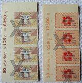 Konvolut alter Bezugs-Reisemarken von 1948, franz. Zone