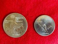 Zwei Silbermünzen 10 Dollar + 5 Dollar Olympiade Montreal 1976 Kanada - Mannheim