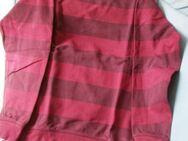 Sweatshirt langarm (Gr. M /50) Rot ,quer gestreift - Weichs