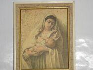 Altes Bild Maria mit Kind, Mutter mit Kind - Büdelsdorf