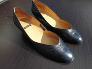 Dari Leder Pumps Damen Schuhe dunkelblau Gr. 40 Vintage Design 5,- - Flensburg
