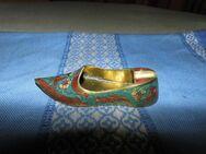 Messingaschenbecher in Form eines Schuhs / indische Kunstschmiedearbeit um 1970 - Zeuthen