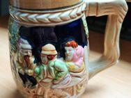Ein nostalgischer Bierkrug mit Wassermühle Motiv - Verden (Aller)