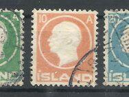 Island,5-20 Aurar Frederick VIII,1912,  Mi:IS 69-71,Lot 448