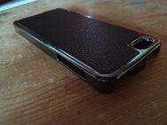 Apple I Phone 5/5s Case in Chrom und echtem Leder - Verden (Aller) Zentrum