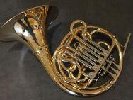 Meister Hans Hoyer 601 GA-L Goldmessing Doppelhorn mit Schraubbecher. NEUWARE